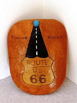 gourds-route 66--basket-S&S Handcrafted Art & Gifts