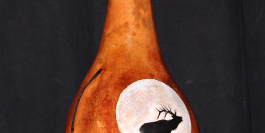 Elk and Moon Thunder Drum
