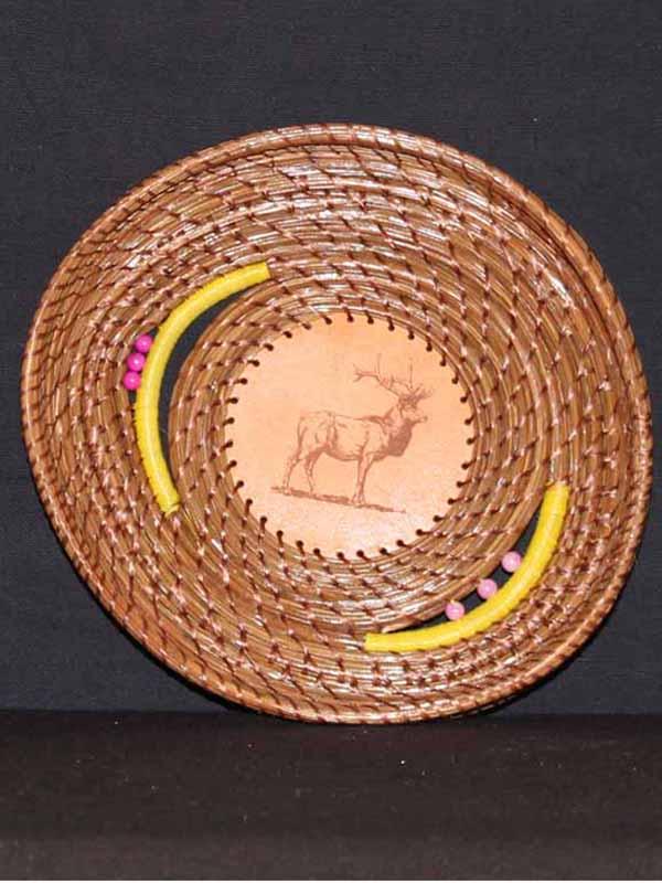 Elk Pine Needle Basket