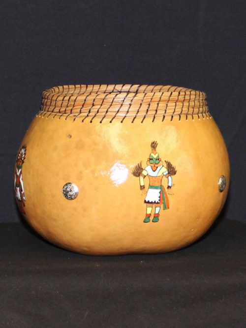 Four Kachinas Kettle Gourd Pot