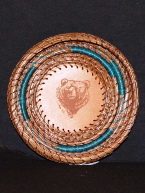 Turquoise Bear Basket
