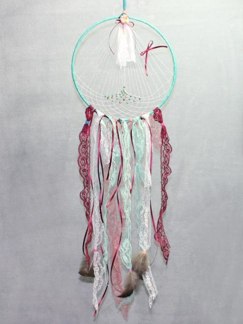 Aqua Green Single Vintage Dream Catcher