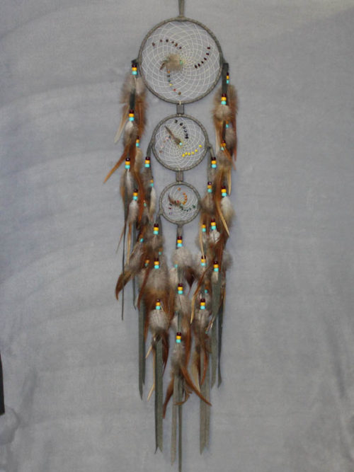 Green Large Triple Singles Dream Catcher