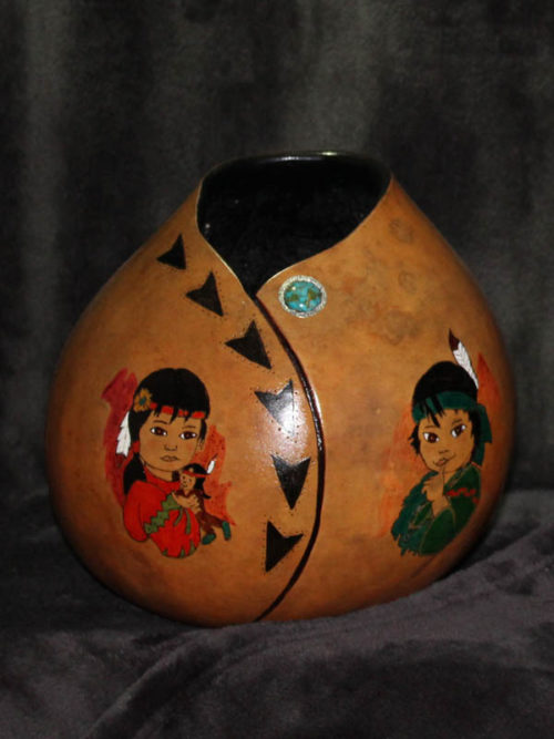 Indian Kids Gourd Bowl