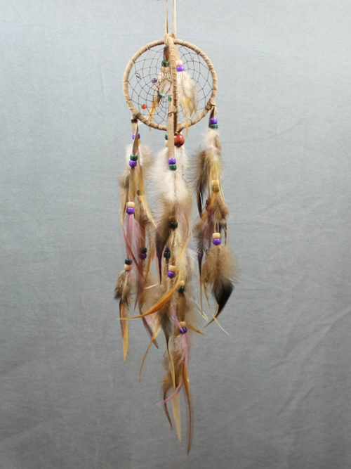 Tan and Lavendar Double Dream Catcher