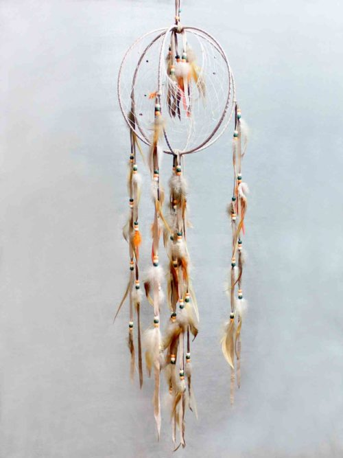 Tan Vertical Triple Dream Catcher
