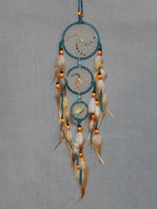 Turquoise Small Triple Singles Dream Catcher