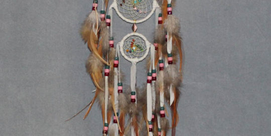 White Small Triple Single Dream Catcher