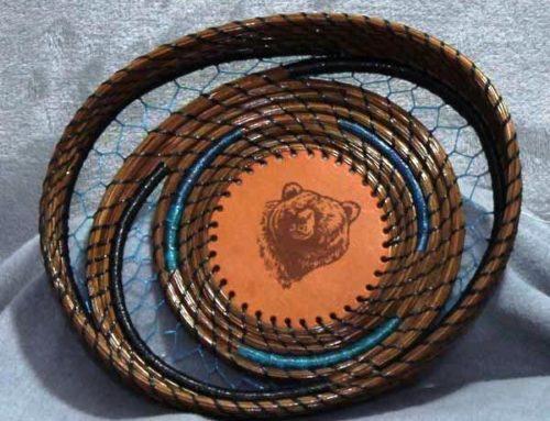 Pine Needle Basket (bear)