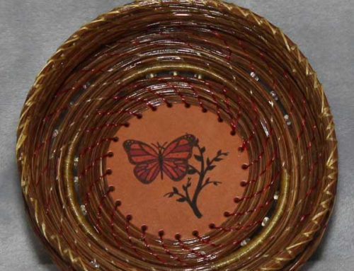 (Butterfly) Pine Needle Basket